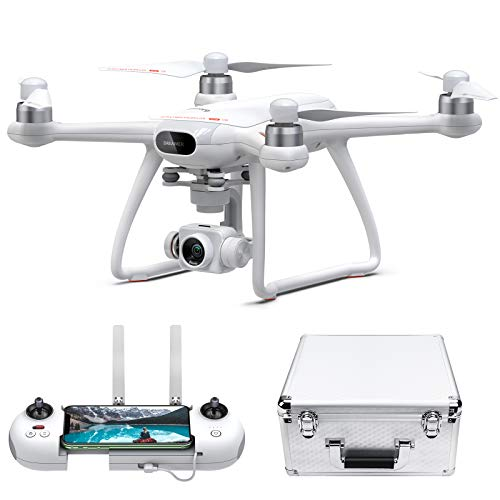 3-Axis Gimbal 4K Drone with Camera for Adults, Potensic Dreamer Pro GPS Quadcopter with 2KM FPV Transmission Range, 28mins Flight, DIY Circle Flight, Auto-Return, Portable Carry case and 32G SD Card