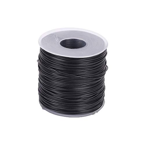 Cable de acero, cable metálico de acero recubierto de 100 m, cable metálico de acero inoxidable de 1 mm, 7 x 7 mm, cable de elevación de pesca de cable metálico de núcleo de hilo