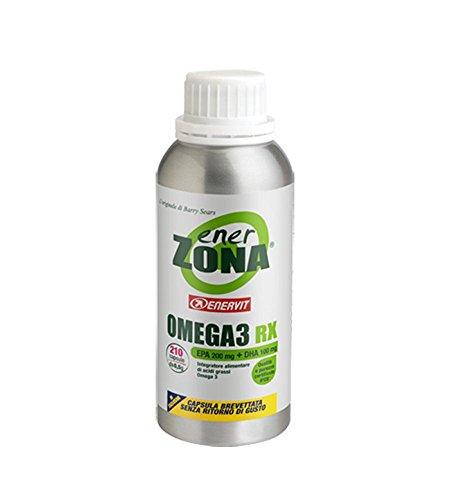 Enervit Enerzona Dieta Zone Integratore Alimentare per il Controllo del Colesterolo e Trigliceridi, Omega 3 RX - 240 Capsule da 1 gr (4) (10)