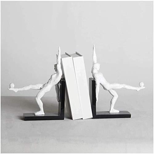 Voetbal boekensteun, hars figuur ambachten met moderne karakter modellering boek, veranda decoratie, hars decoratie, licht luxe meubilair decoratie