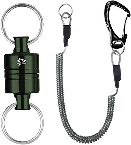 Piscifun Magnetic Net Release for Fly Fishing Magnetic Release Fishing Net Holder Dark Green