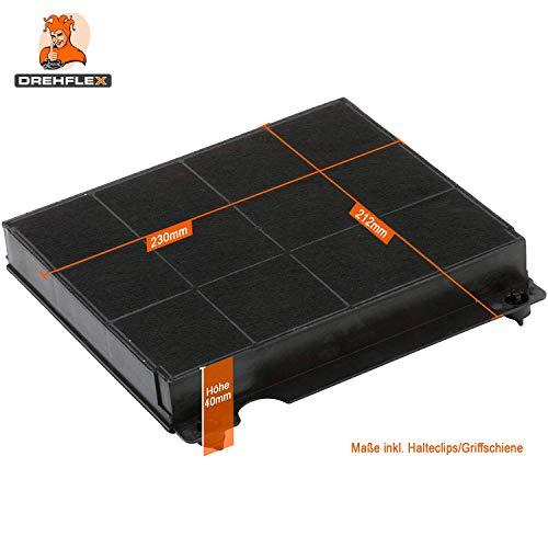 DREHFLEX® – Kohlefilter / Aktivkohlefilter / Filter für Dunstabzugshaube / Abzugshaube / Esse / Umluft für diverse Hauben von AEG / Electrolux / Bauknecht / Whirlpool / Elica und viele weitere – passend für Teile-Nr. 9029793818 / 902979381-8 / 481248048145 weitere mögliche Bezeichnungen: E3CFE15 / AMC027 / Mod.15 / F003333 / F00418SE etc. - 2