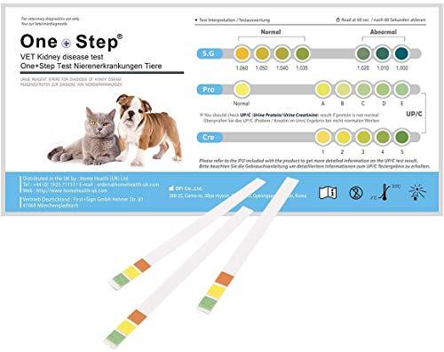 One+Step 5 Stück Gesundheitstest für Katzen und Hunde - Nieren Check