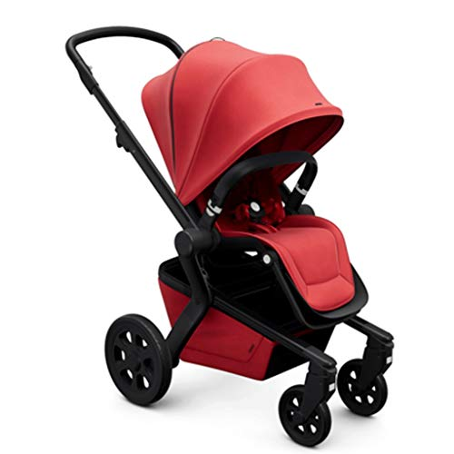 LZL Cochecitos de bebé Jogger Cochecito, Cochecito de bebé Función rotación de 360 Grados, Compacto Fold - Travel System Extra Grande Cesta de Almacenamiento cochecitos (Color : Red)