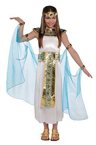 filles Cléopâtre Costume Déguisement égyptien REINE DU NIL Pharaon Costume - Ivoire, 10-12 ans