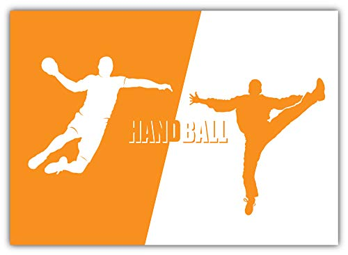 SkyBug Handball Players Bumper Sticker Vinyl Art Decal for Car Truck Van Window Bike Laptop