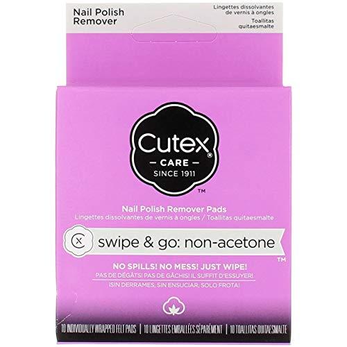 Cutex Care Swipe & Go Non-Acetone Nail Polish Remover Pads 10ct