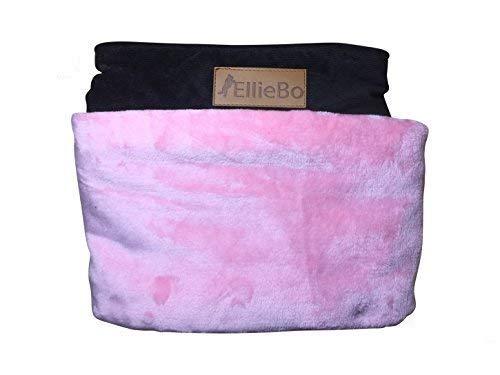 Ellie-Bo Carcasa Perro Cama de Repuesto Pana con Piel Sintética Topping, 48-Inch, 117x 75cm, 2x -Large, Rosa/Marrón