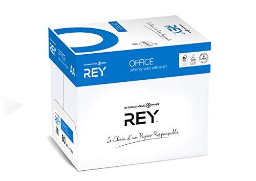 REY® OFFICE, papier blancheur élevée, 80g, A4, PEFC™, carton de 5x500 feuilles ,, blanc