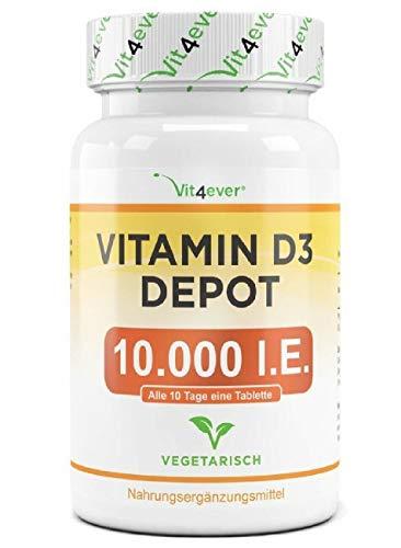 Vitamina D-3 D3 10000 IU 10,000 365 compresse VITAMINE Capsule pillole pastiglie per difese immunitarie integratore alimentare