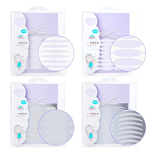 TIK Tok 1344Pcs/4Pack Ultra Invisible One/Two Side Sticky Double Eyelid Tape Stickers, Medical Fiber Eyelid Lift Strip, Instant Eyelid Lift NoSurgery, Perfect for Hooded, Droopy, Uneven, Mono-Eyelid
