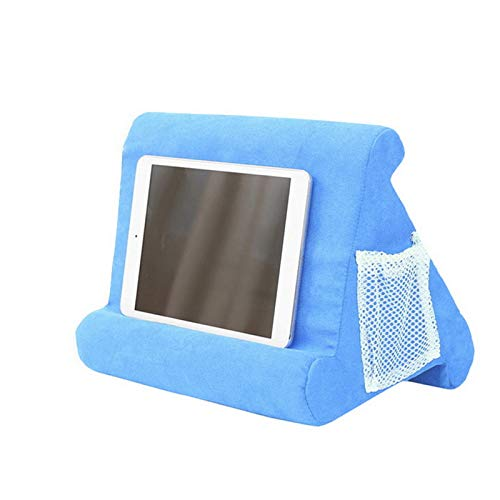 MoneRffi Soft Tablet Pillow Cushion Stand with Net Pocket - Multi-Angle Soft Tablet Pillow for Lap, Knee, Sofa and Bed - Universal Phone & Pad Stands for eReaders, Magazines, Kindle