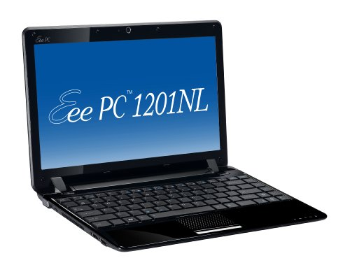 Asus EeePC 1201NL 30,7 cm (12,1 Zoll) Netbook (Intel Atom N270, 1,6GHz, 1GB RAM, 250GB HDD, nVidia ION, Win 7 HP) schwarz