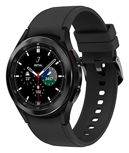 Samsung Galaxy Watch4 Classic, R&e LTE Smartwatch, Wear OS, drehbare Lünette, Fitnessuhr, Fitness-Tracker, 46 mm, Black (Deutche Version)