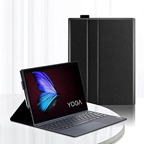 Estuche Protector para Lenovo Yoga Duet Funda sintética de 13 Pulgadas para Lenovo Yoga Duet Tablet 2020 Portable-Negro