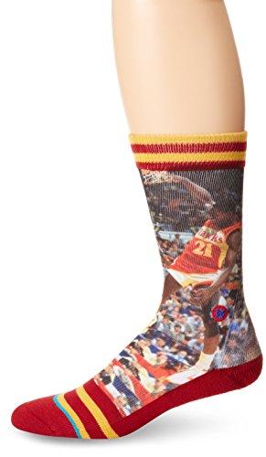 Stance Men's Dominique Wilkins Atlanta Hawks Crew Socks, Red, Sock...