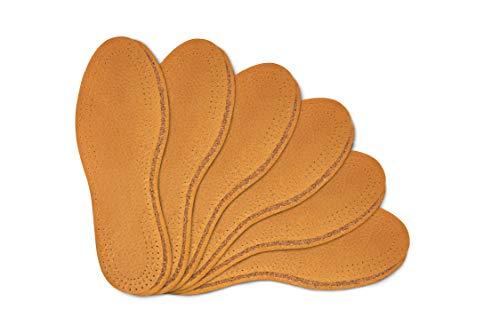 Kaps 6 Paar Schuheinlagen-Set Leather Cork | Aus hochwertigem natürlichem Leder und Kork | Elegant und bequem (39 EUR / 6 UK Damen)
