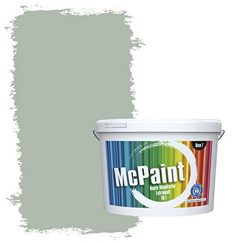 McPaint Bunte Wandfarbe extramatt für Innen Eucalyptus 5 Liter - Weitere Grüne Farbtöne Erhältlich - Weitere Größen Verfügbar