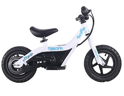 SYX MOTO Spark 24V 100W Kids Mini Electric Balance Bike Freestyle Ride-on Bike,White