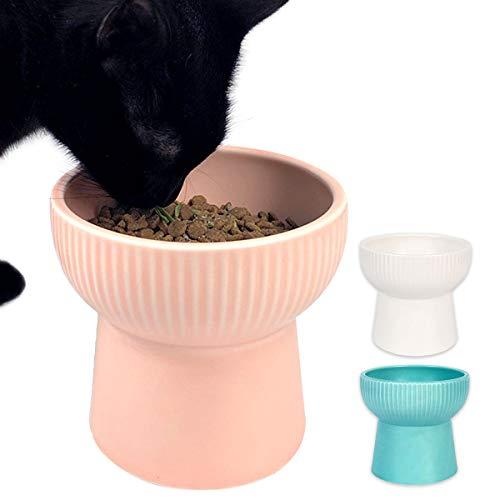 【 食べやすい高さ 】iikuru 猫 食器 陶器 フードボウル スタンド 脚付 食べやすい 猫用 犬 ねこ ウォーターボウル セラミック 子猫 ご飯 皿 食器台 ペット食器 餌皿 ペット用食器 y617