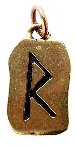 Kiss of Leather Runen Anhänger Raido aus Bronze Nr. 91