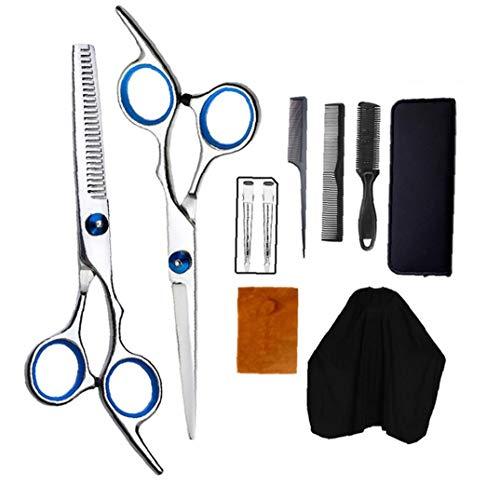 Tijeras del corte del pelo, el pelo Kits de acero inoxidable de corte tijeras adelgazamiento por corte Kits de corte de pelo peluquería Capa y las pinzas de pelo para el hogar, Peluquería Salón
