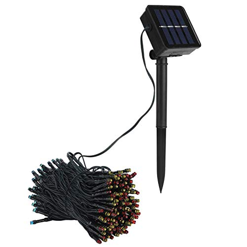 WWZZ Luces solares solares a Prueba de Agua de 1.2M Luz Decorativa Solar, Luces de Cadena Solar de Control Manual, para Uso Seguro para el hogar