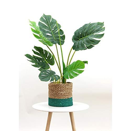 Línea Deco | Monstera Artificial | 85 cm | Tacto real | Planta verde artificial | Planta tropical moderna | árbol | Decoración de interior | casa oficina