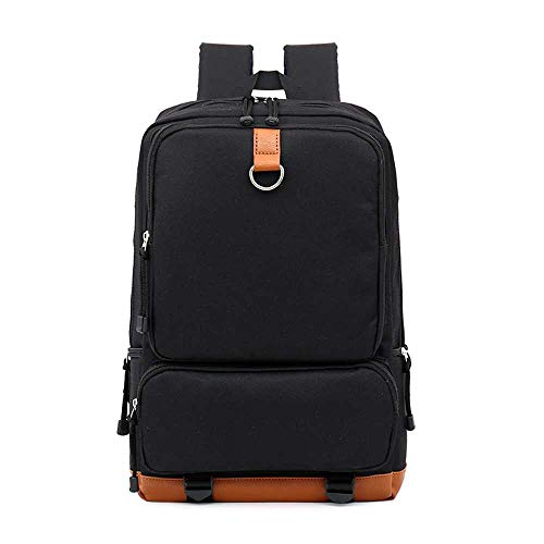 WOAIBAOBAO New Fashion Student Schoolbag Neutral Solid Color Canvas Men&Women Backpack Backpack