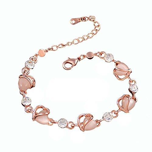 Main Bijoux Bijoux Fashion Bracelet Améthyste en forme de coeur Bracelet