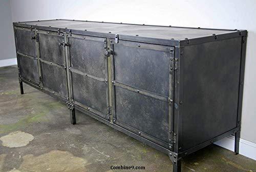 Media Console/Credenza. Steel & Reclaimed Wood. Sideboard, Buffet