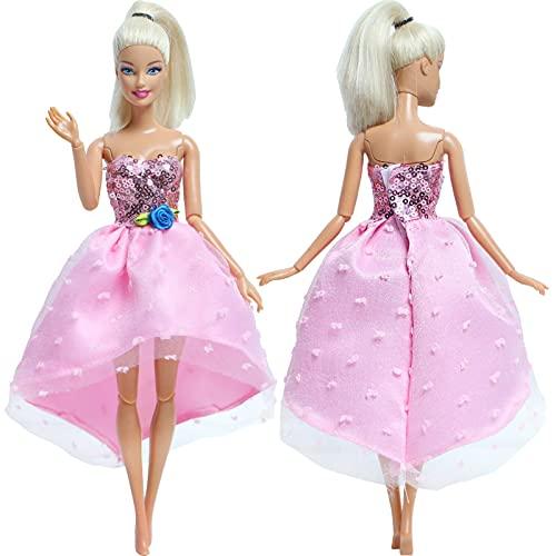 XKMY Vestidos para muñeca hecha a mano, vestido de muñeca de boda,...