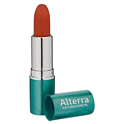 Alterra Lippenstift 1 Stück Farbe 14: Tulip, verleiht eine natürlich schöne Lippenfarbe, zertifizierte Naturkosmetik