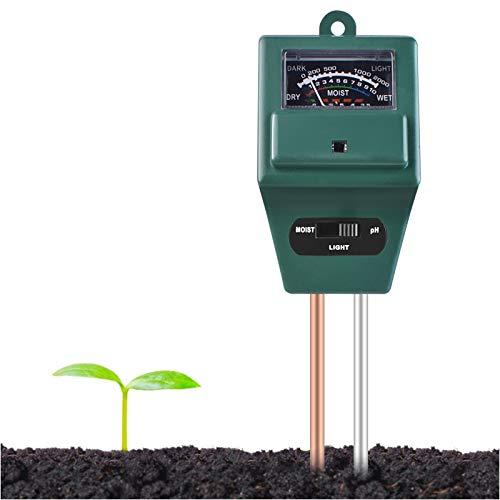Longruner Medidor de Humedad del Suelo,Monitor de Agua del Suelo,Hidrómetro para Jardín,Granja,Plantas de Césped, Interior,Al Aire Libre(No Necesita batería) LKP02 (LKP03)