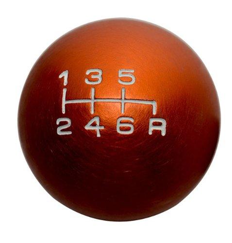 10x1.25mm Thread 6 speed JDM Round Ball Shift Knob in ORANGE Billet Aluminum for Mazda Miata RX8 RX-8