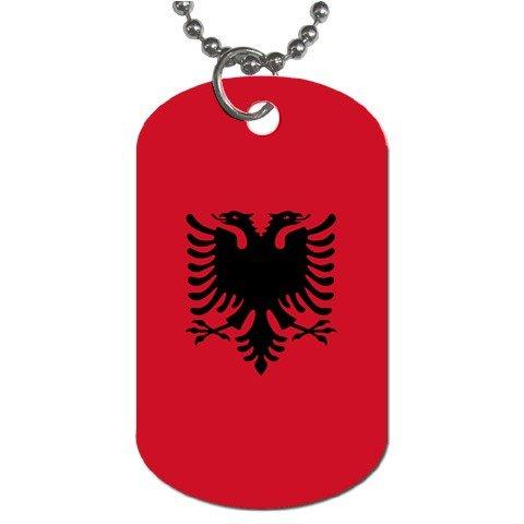 Albania Flag Dog Tag