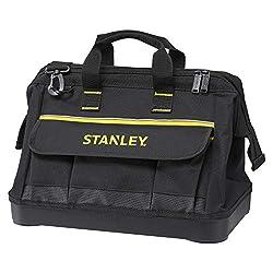 Stanley Werkzeugtasche (44,7 x 27,5 x 23,5 cm, robuster Kunststoffboden, verstärkte Ecken, stabiles 600 Denier Nylon, verstellbarer Schultergurt, wasserdicht) 1-96-183