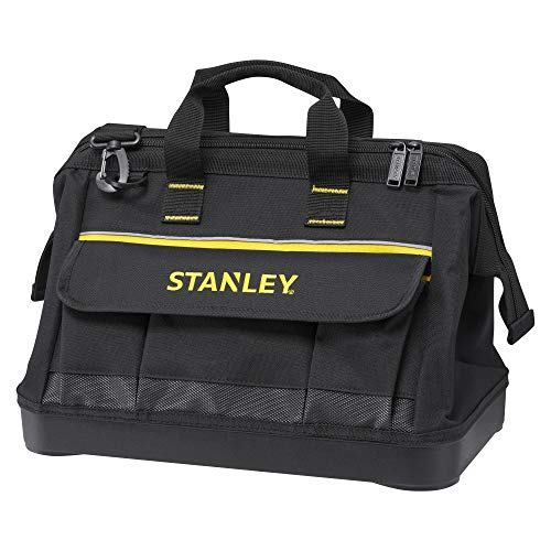 STANLEY 1-96-183 - Bolsa para herramientas de gran abertura con cremallera, 45 x 27.5 x 23.5 cm, base reforzada
