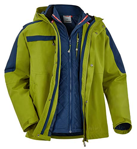 Fifty Five Skijacke Winterjacke Herren - Kingston Bay - Männer 3 in 1 Jacke Doppeljacke Oliv Blau 2XL 3XL 56 58 Winddicht Wasserdicht Atmungsaktiv