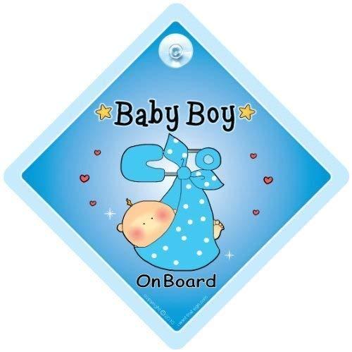 Baby On Board, petit-enfant à bord, panneau pour voiture,, Baby Boy On Board Sign, bleu sangle, Baby on Board Panneau de sécurité de voiture, bébéà bord, autocollant, Sticker pare-chocs, bébé Panneau, signe pour voiture, Maternité, Grossesse, de douche pour bébé, voiture, panneau
