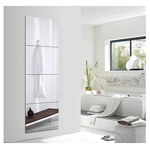 Huimei2Y Full Length Wall Mirror, 12 Inch x 4 Pieces Frameless Body -