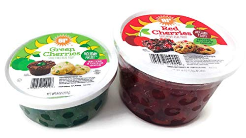 Sunripe Red and Green Cherries Glace Candied Fruit Holiday Baking