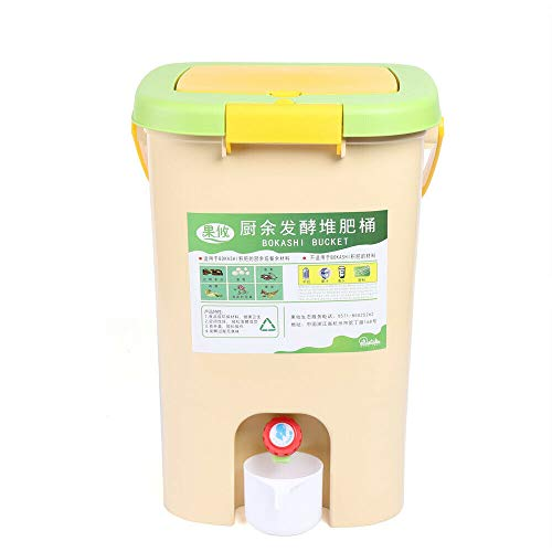 Buy Discount Food Waste Compost Bucket 21L, Recycle Composter Aerated Compost Bin Kitchen Food Waste...