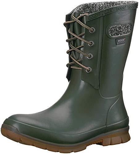 BOGS Amanda Plush Lace Boot - Women's Dark Green, 8.0