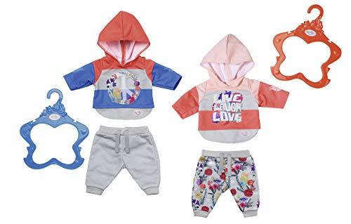 Zapf Creation 826980 BABY born joggingpak poppenkleding 43 cm, 1 stuk - kleur naar voorraad