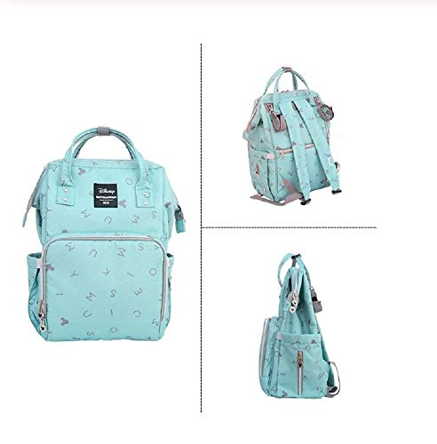6 piezas Set de bolso cambiador de pa/ñales con organizador de bolsas especial Babyhugs Grey Leaves