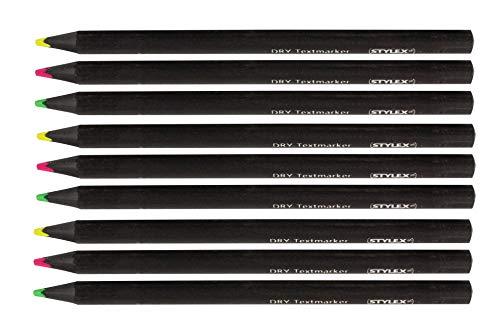 9 Jumbo Trocken-Textmarker / Farbe: je 3x neongelb, neongrün, neonpink