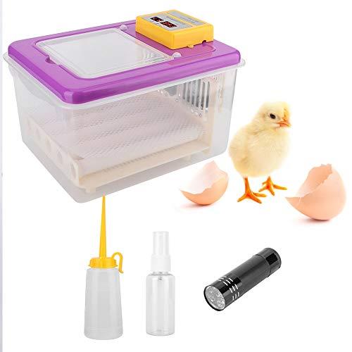Incubadoras de Huevos de 16 Máquina Automatizadora de Aves de Corral Automática Huevo Digital Fan Pollos Patos Turner de Huevo Automático 220 V para Pollos Patos Ganso Pájaros