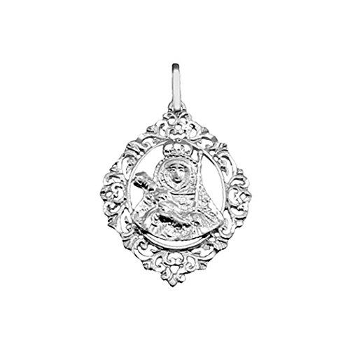 Medalla plata ley 925m. Virgen Candelaria cerco calada [8901]
