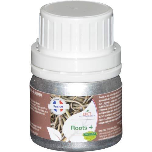 Bio Technology | Fertilizante y Estimulador Orgánico de Raíces | Desarrollo de Raíces | Crecimiento de Raíces | Mejora el Rendimiento Roots + - 50 ML